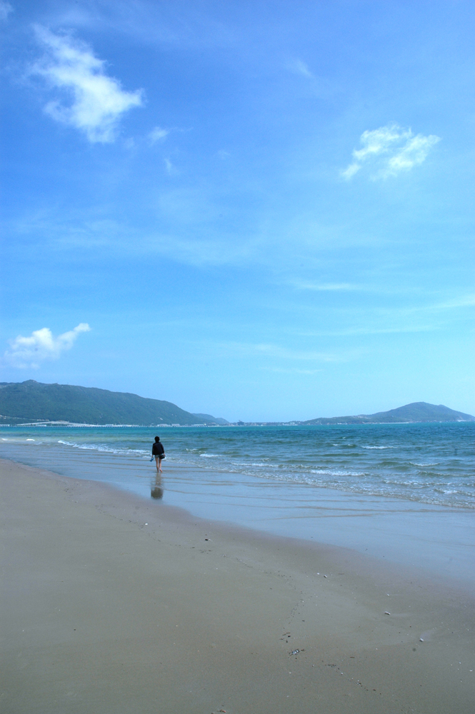 一個人的海邊 - 海南旅游風景圖片