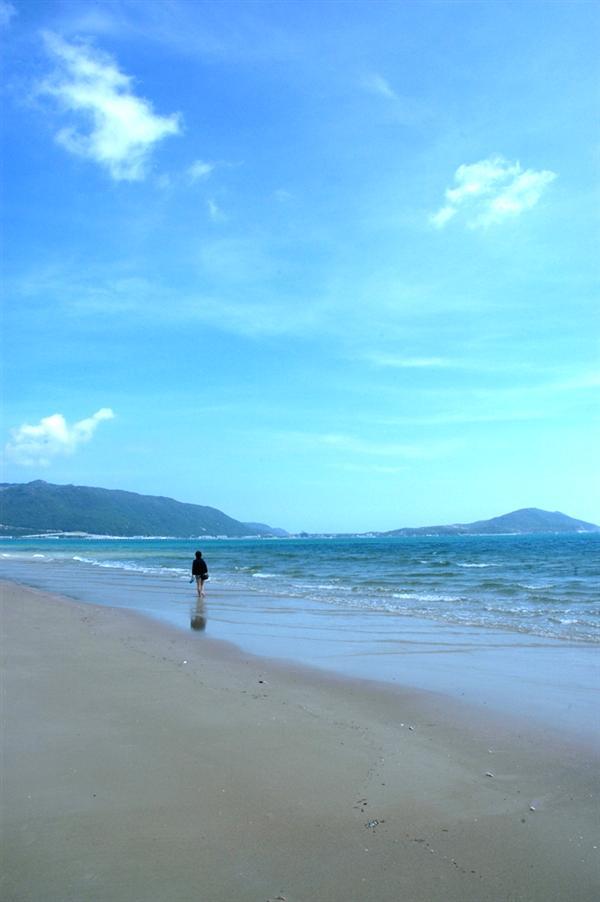 海南旅游圖片=  散心; 一個人的海邊   海南旅游風景圖片   cits2008